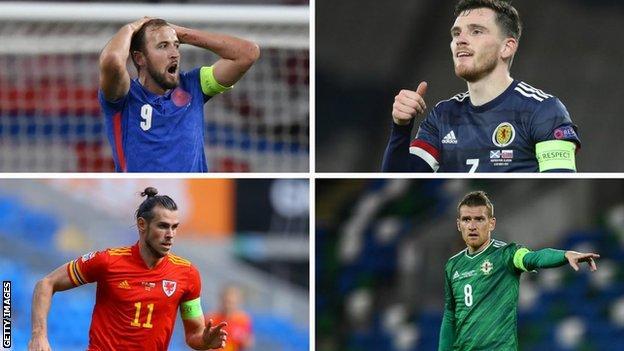 Harry Kane, Andy Robertson, Gareth Bale and Steven Davis