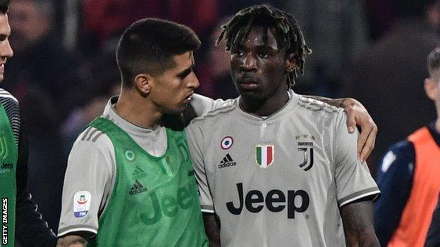 Moise Kean Juventus Teenage Striker Suffers Racist Abuse At Cagliari Bbc Sport