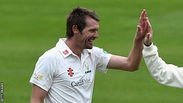 Michael Hogan's figures of 4-44 were his best in first-class cricket for Glamorgan this summer