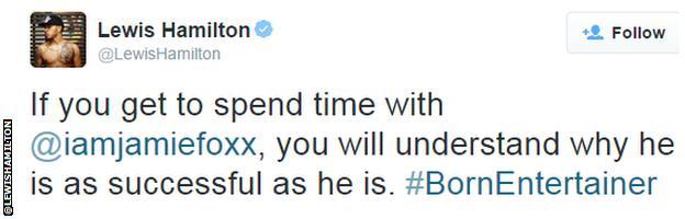 Lewis Hamilton tweet
