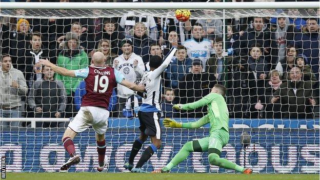 Georginio Wijnaldum scores his ninth goal of the season for Newcastle