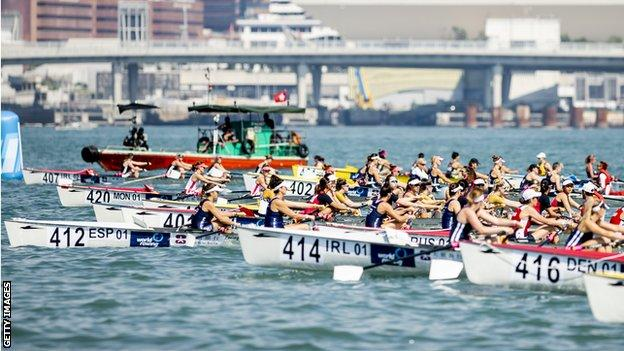 The World Coastal Rowing Championships took place in Hong Kong