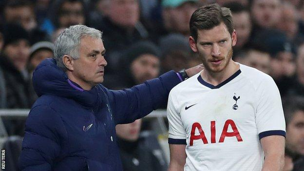 Jose Mourinho and Jan Vertonghen