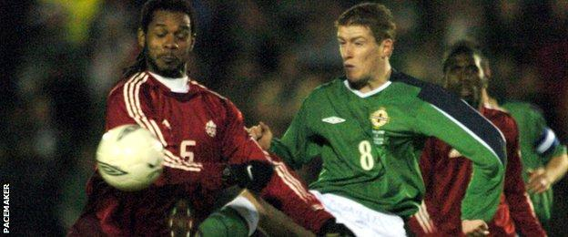 Davis was 20 when he made his Northern Ireland debut in a 1-0 friendly defeat by Canada