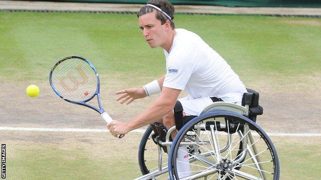 Gordon Reid was a doubles winner at Wimbledon last year