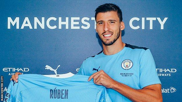 Ruben Dias: Manchester City sign Benfica defender on six-year deal (2020)