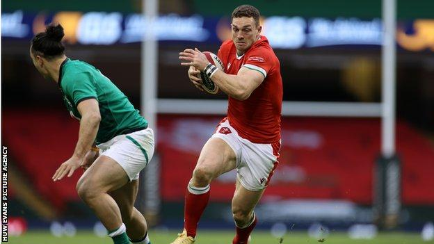 George North in action against Ireland in February 2021