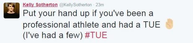 Kelly Sotherton tweet