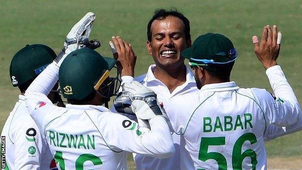 Nauman Ali celebrates