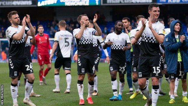 Coventry City celebrate
