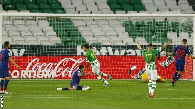 Real Betis celebrate equaliser