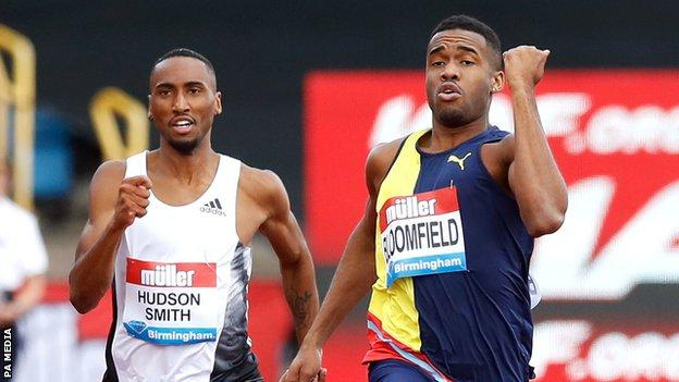 Matthew Hudson-Smith (left) and Akeen Bloomfield (right)