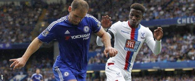 Branislav Ivanovic (left) in action against Crystal Palace