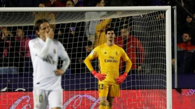 Levante 1-0 Real Madrid: Title hopefuls fall to first defeat since October - bbc