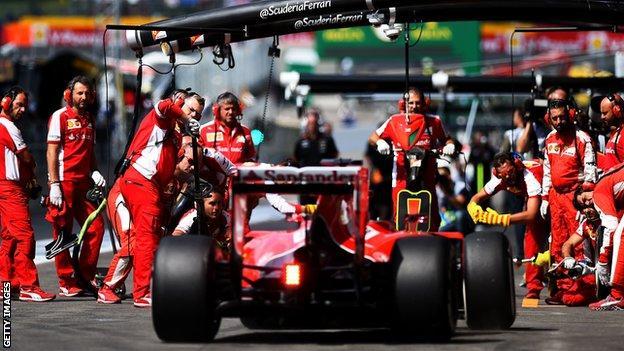 Sebastian Vettel in action during the Belgian Grand prix