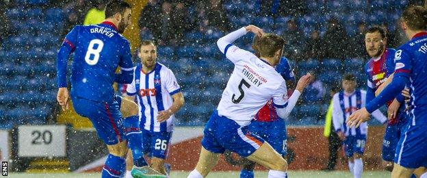 Ross Draper scores from close range to bring Inverness level
