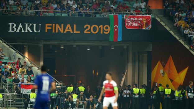 Europa League final in Baku: Far from the pitch and a long way from home - the surreal final thumbnail