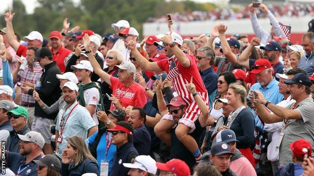 US fans at the Ryder Cup