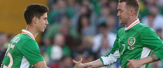 Callum O'Dowda makes his senior Republic of Ireland debut