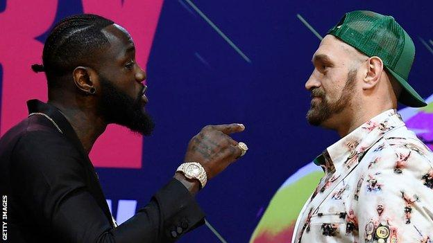 Deontay Wilder and Tyson Fury