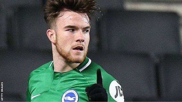 Aaron Connolly in action for Brighton