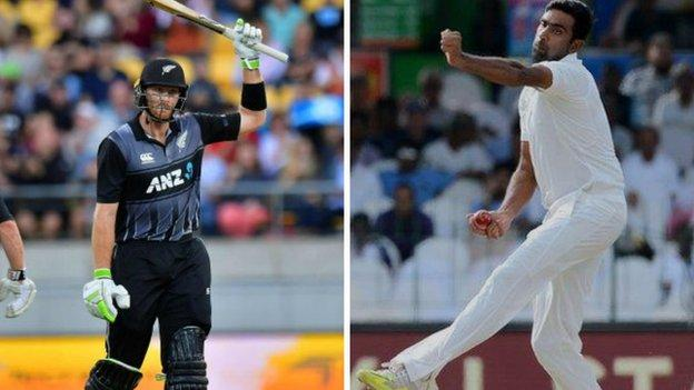 New Zealand batsman Martin Guptill (left) and India spinner Ravi Ashwin have both been earmarked as Worcestershire targets