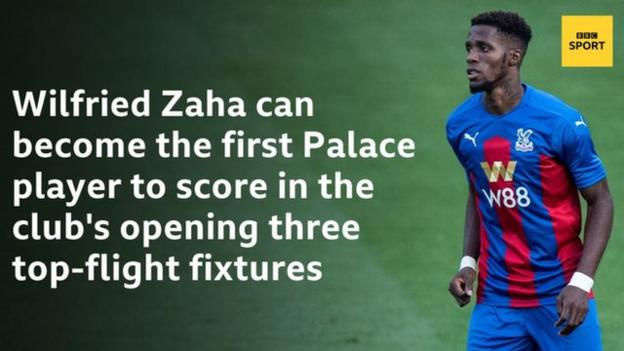 Wilfried Zaha can become the first Palace player to score in the club's opening three top-flight fixtures