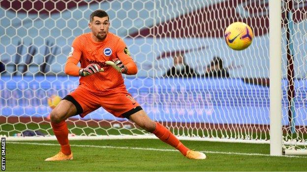 Mat Ryan has played for Brighton in 11 Premier League matches this season, but not since the 3-0 loss to Leicester on 13 December