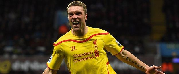 Rickie Lambert's last goal came in the West Midlands - for Liverpool in a 2-0 victory at Villa Park in January