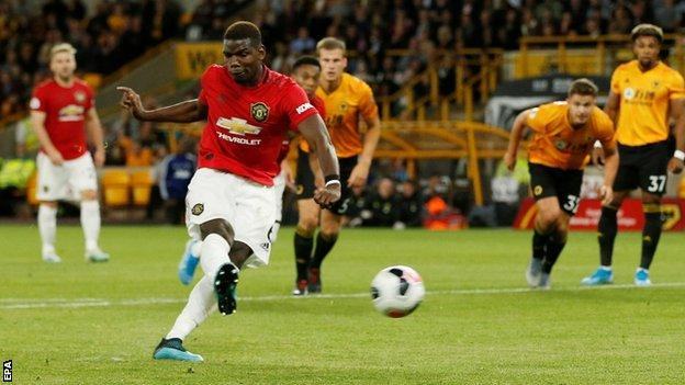 Paul Pogba received racist abuse online after missing a penalty against Wolves