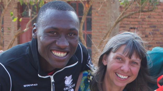 Donatien Ufitimfura, who founded Rusisi Resistance rugby club, and Mary Watkins