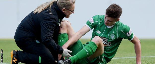 Tierney may be a doubt for Scotland after picking an injury at Kilmarnock on Saturday