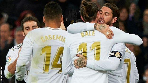 Gareth Bale and Real team-mates