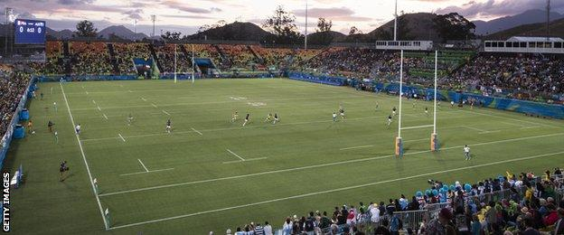 Rio's Deodoro Stadium hosted Rugby Sevens matches during the recent Olympics