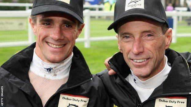 Jorge Ricardo and Russell Baze pictured at Ascot in 2008