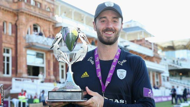 James Vince helped Hampshire win the One-Day Cup