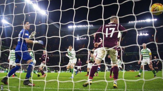 Jozo Simunovic's goal made it 5-0 to a rampant Celtic