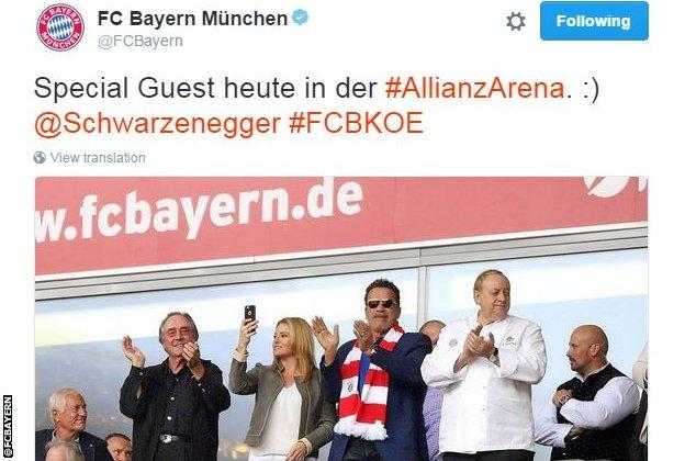 Bayern Munich tweet