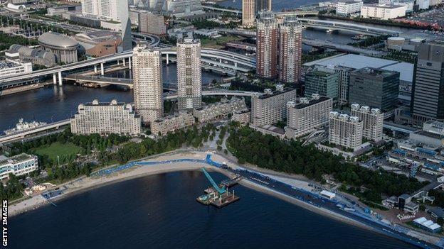 The Odaiba Marine Park will host the Paralympic triathlon