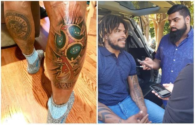 Roman Torres' tattoo