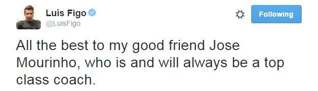 Luis Figo Tweet