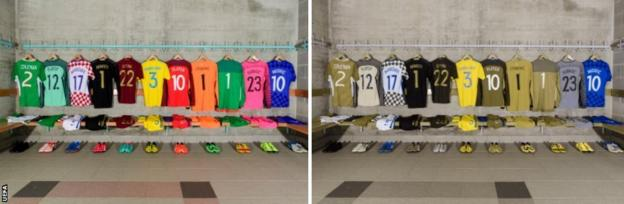 Man united news  football news  football transfer and rumours A range of kits lined up next to each other