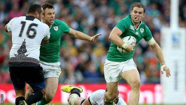 Cave featured in Ireland's 2015 World Cup campaign