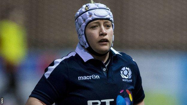 Lana Skeldon in action for Scotland Women