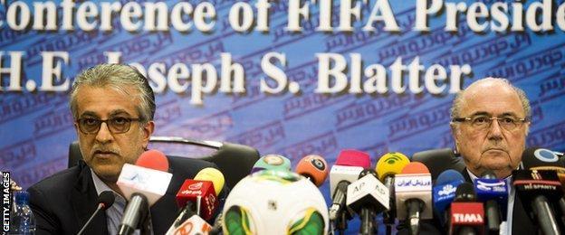 Sheikh Salman and Fifa president Sepp Blatter