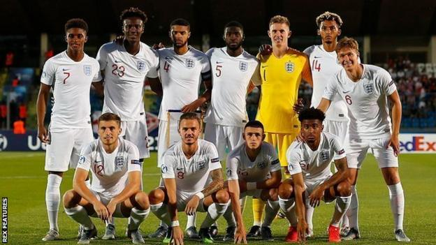 Lloyd Kelly lines up for England against Croatia at the European Under-21 Championship in 2019