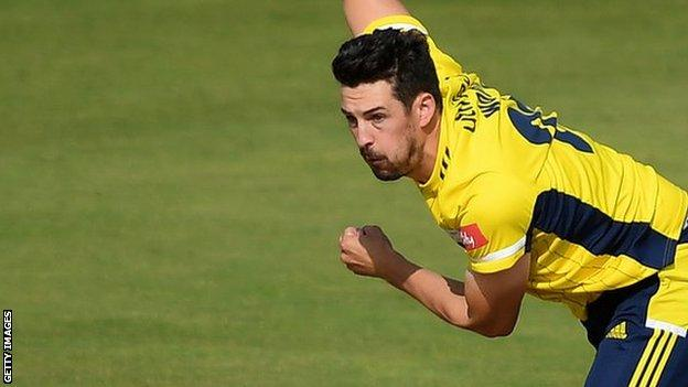 Hampshire seam bowler Chris Wood