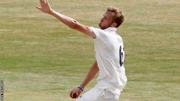 Adam Finch spent a week on loan to injury-hit Surrey from Worcestershire during the Bob Willis Trophy in 2020
