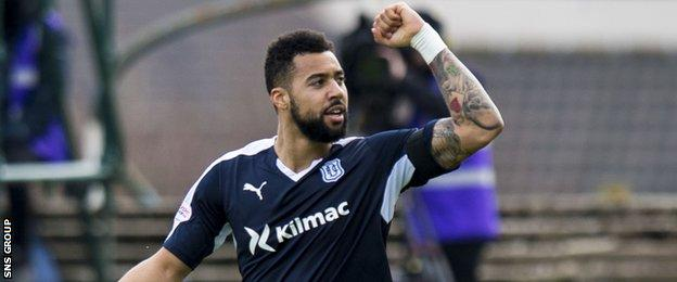 Dundee striker Kane Hemmings