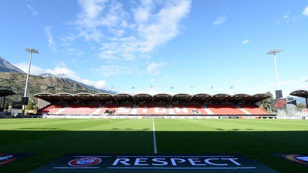 FC Sion's home Tourbillon Stadium